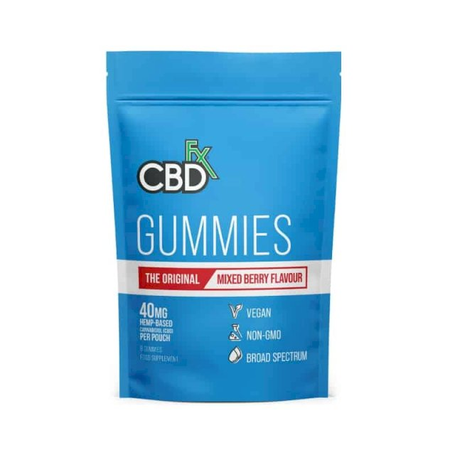 CBDfx Gummies Mixed Berries 40mg 8 Count On The Go Pack